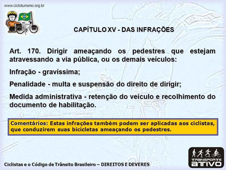 CAPÍTULO XV - DAS INFRAÇÕES