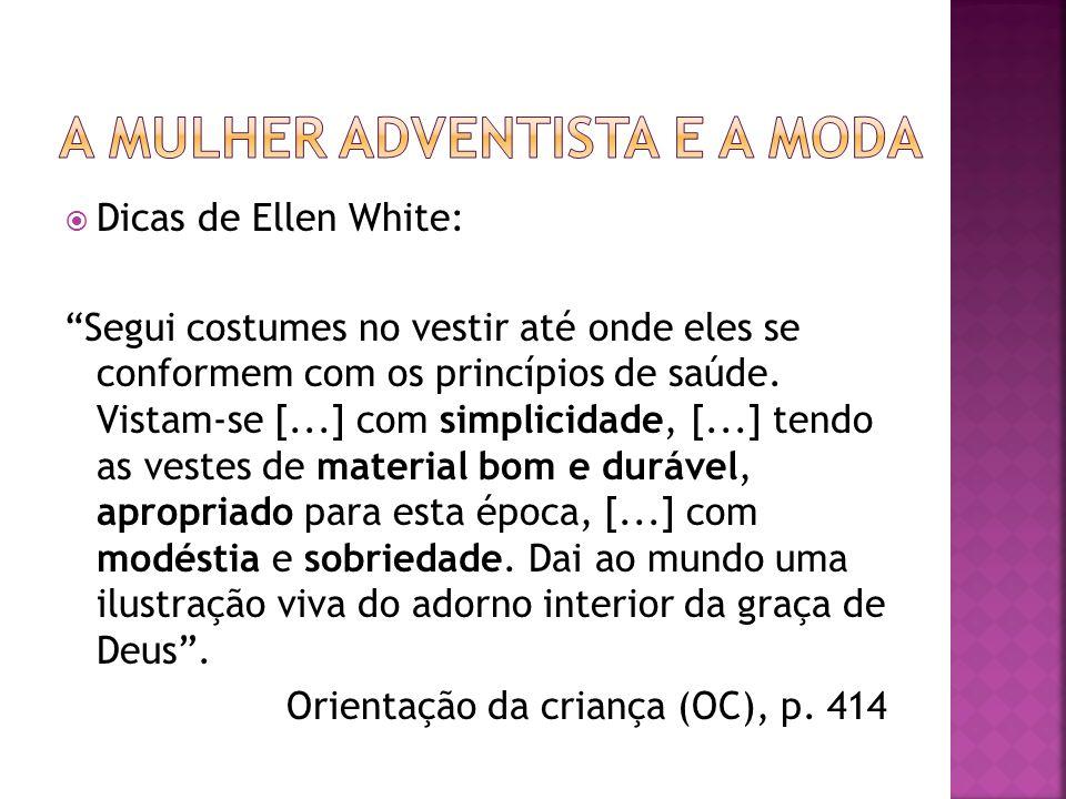 A mulher adventista e a moda