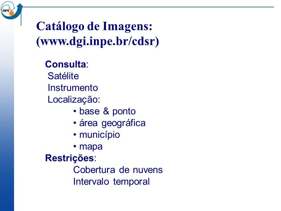 Catálogo de Imagens: (www.dgi.inpe.br/cdsr)
