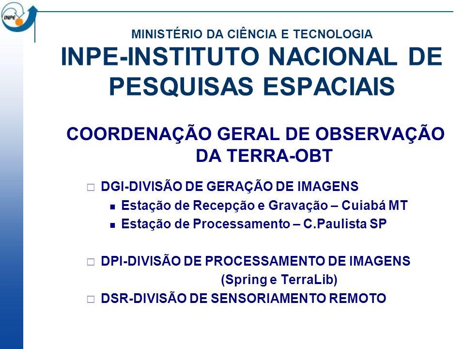 COORDENAÇÃO GERAL DE OBSERVAÇÃO DA TERRA-OBT