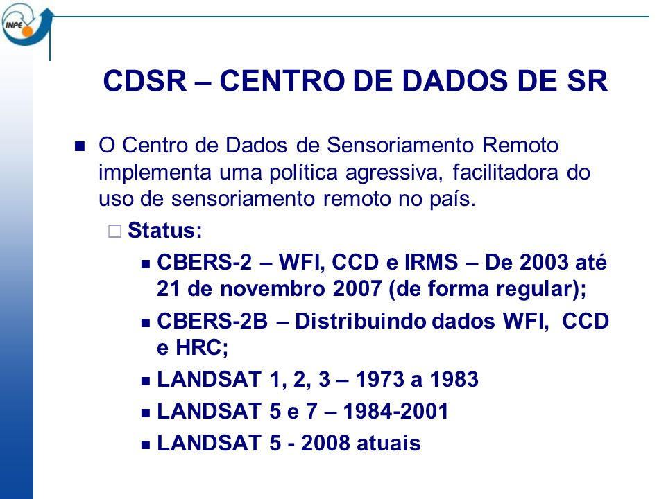 CDSR – CENTRO DE DADOS DE SR