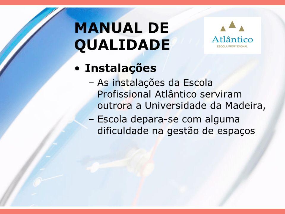 MANUAL DE QUALIDADE Instalações