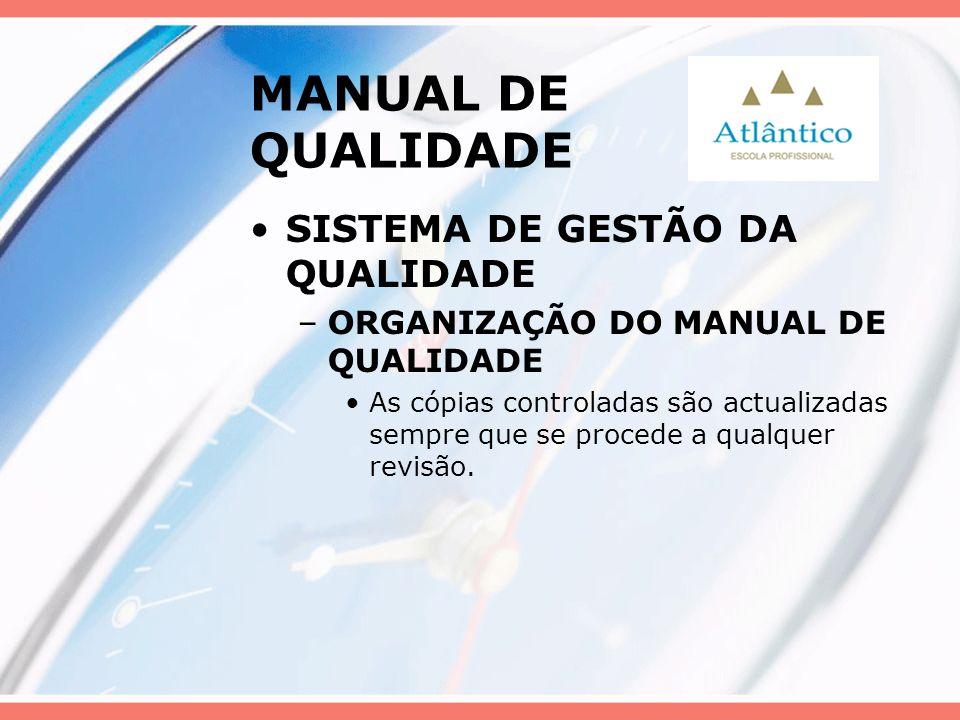 MANUAL DE QUALIDADE SISTEMA DE GESTÃO DA QUALIDADE