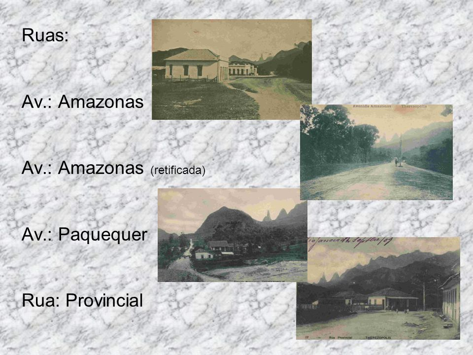 Ruas: Av. : Amazonas Av. : Amazonas (retificada) Av