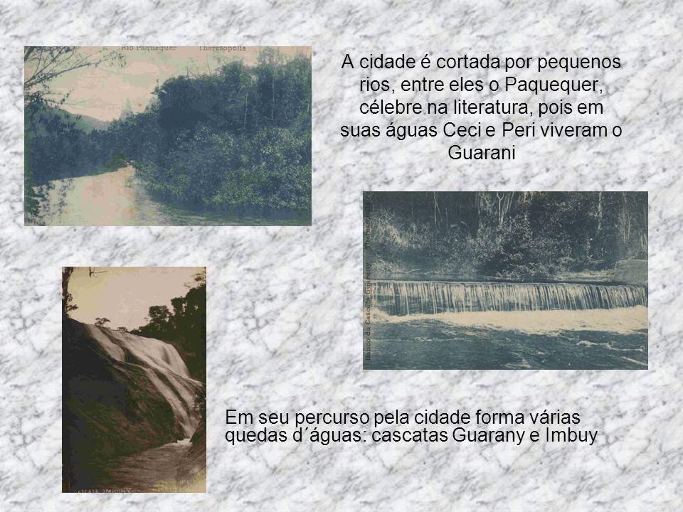 A cidade é cortada por pequenos rios, entre eles o Paquequer, célebre na literatura, pois em suas águas Ceci e Peri viveram o Guarani