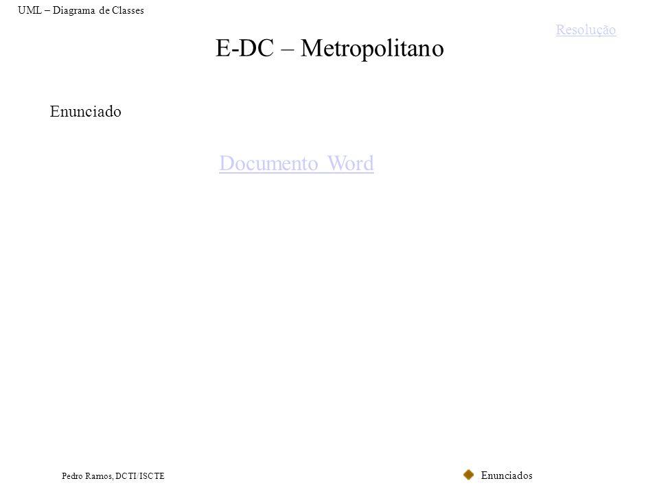 E-DC – Metropolitano Documento Word Enunciado Resolução