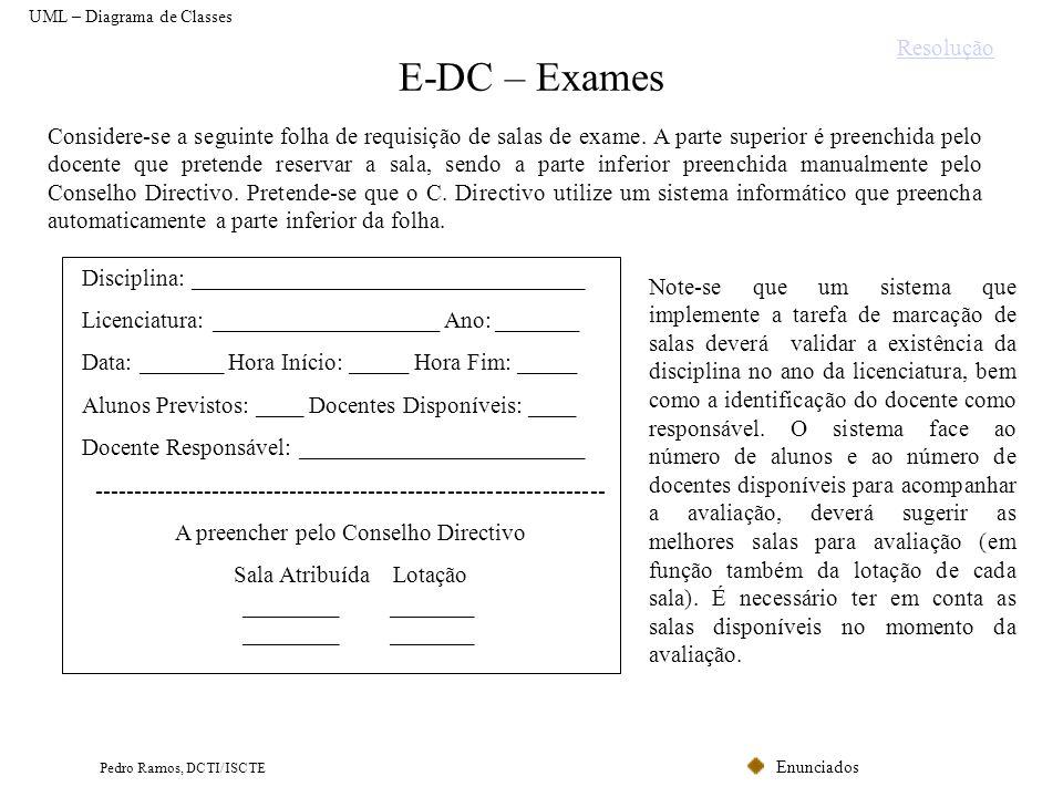 E-DC – Exames Resolução