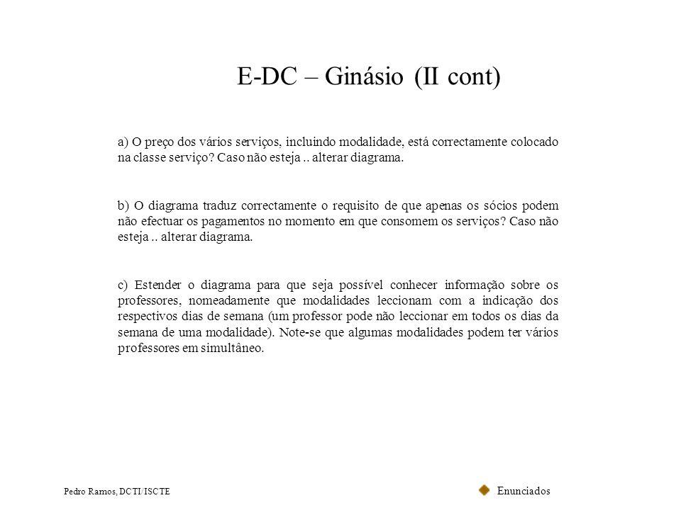 E-DC – Ginásio (II cont)
