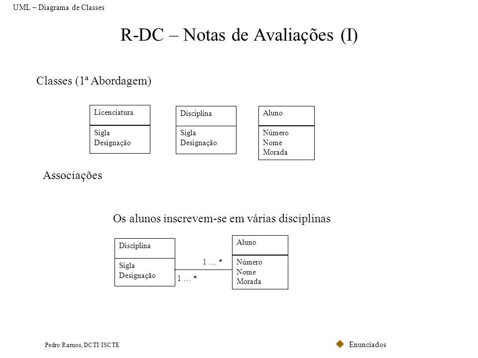 R-DC – Notas de Avaliações (I)