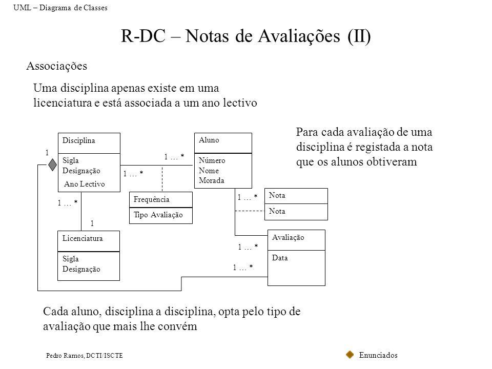 R-DC – Notas de Avaliações (II)