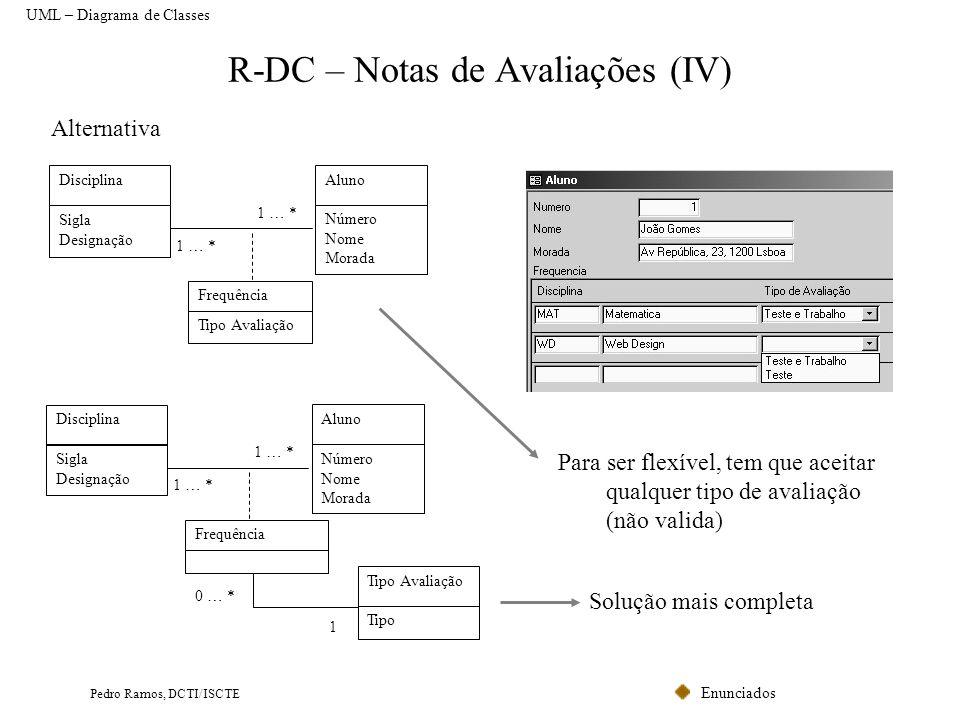 R-DC – Notas de Avaliações (IV)