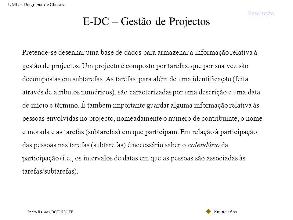 E-DC – Gestão de Projectos