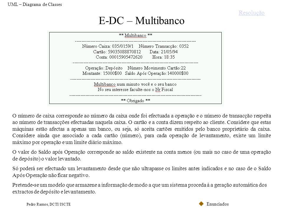 E-DC – Multibanco Resolução