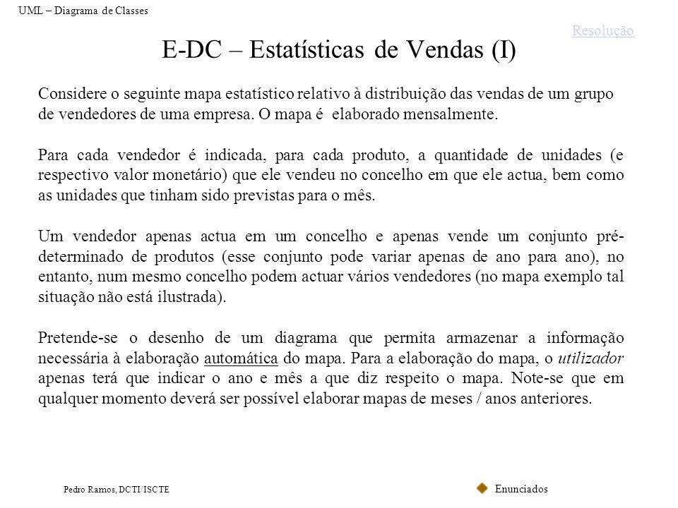 E-DC – Estatísticas de Vendas (I)