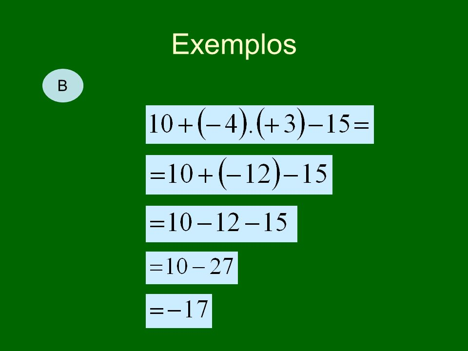 Exemplos B