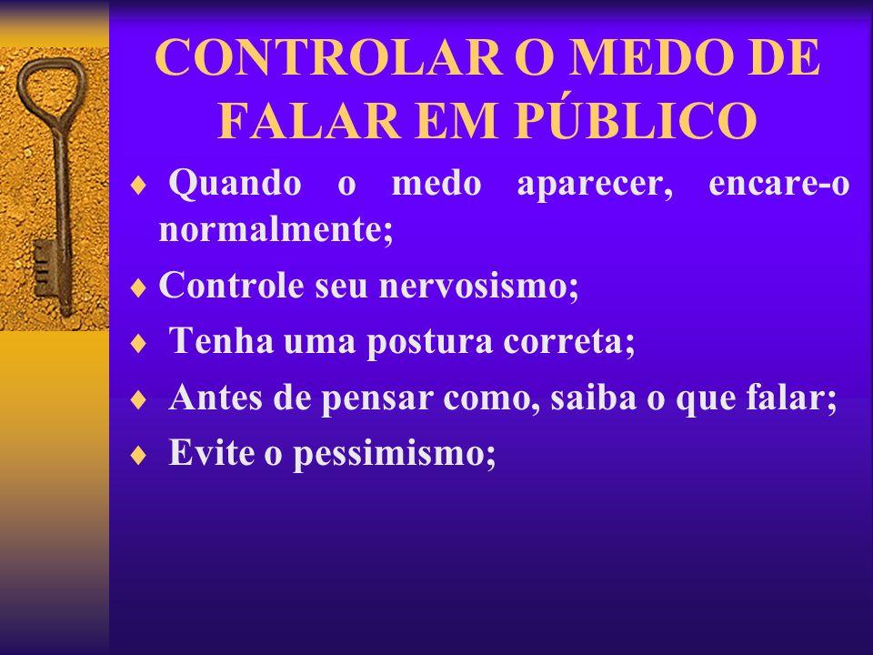CONTROLAR O MEDO DE FALAR EM PÚBLICO