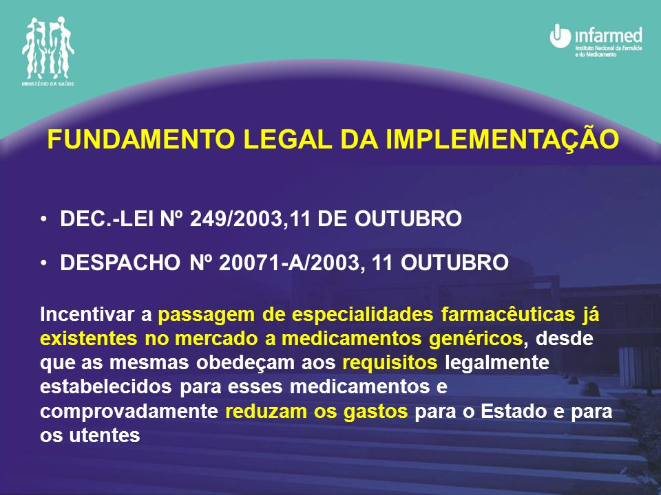 FUNDAMENTO LEGAL DA IMPLEMENTAÇÃO
