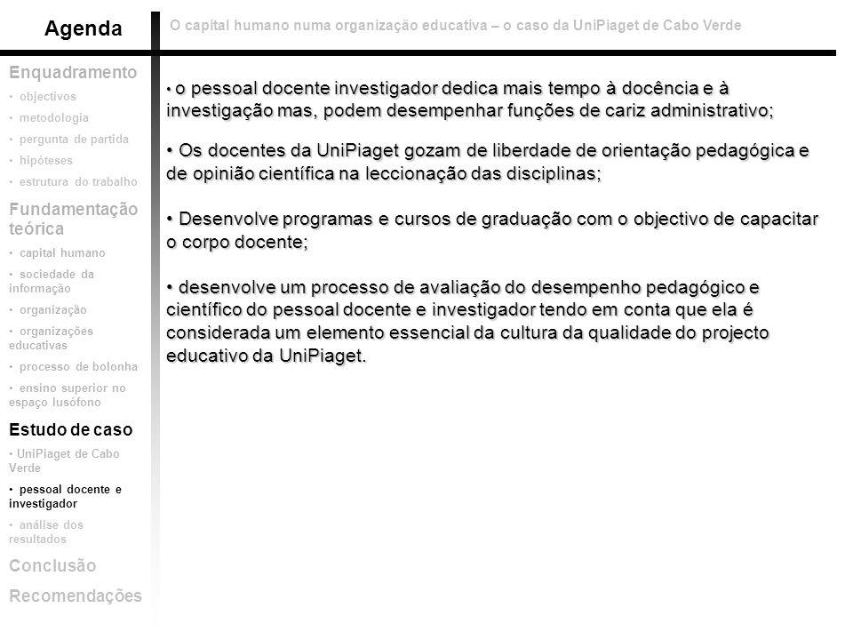 O capital humano numa organização educativa – o caso da UniPiaget de Cabo Verde