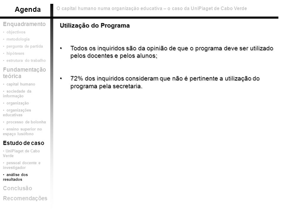 Agenda Utilização do Programa