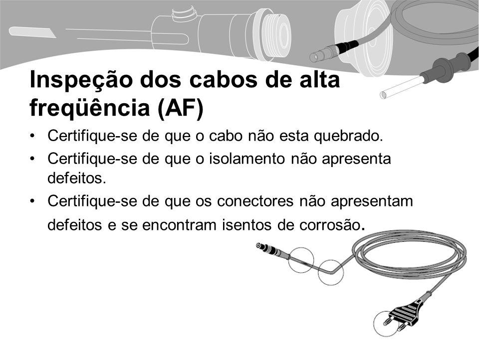 Inspeção dos cabos de alta freqüência (AF)