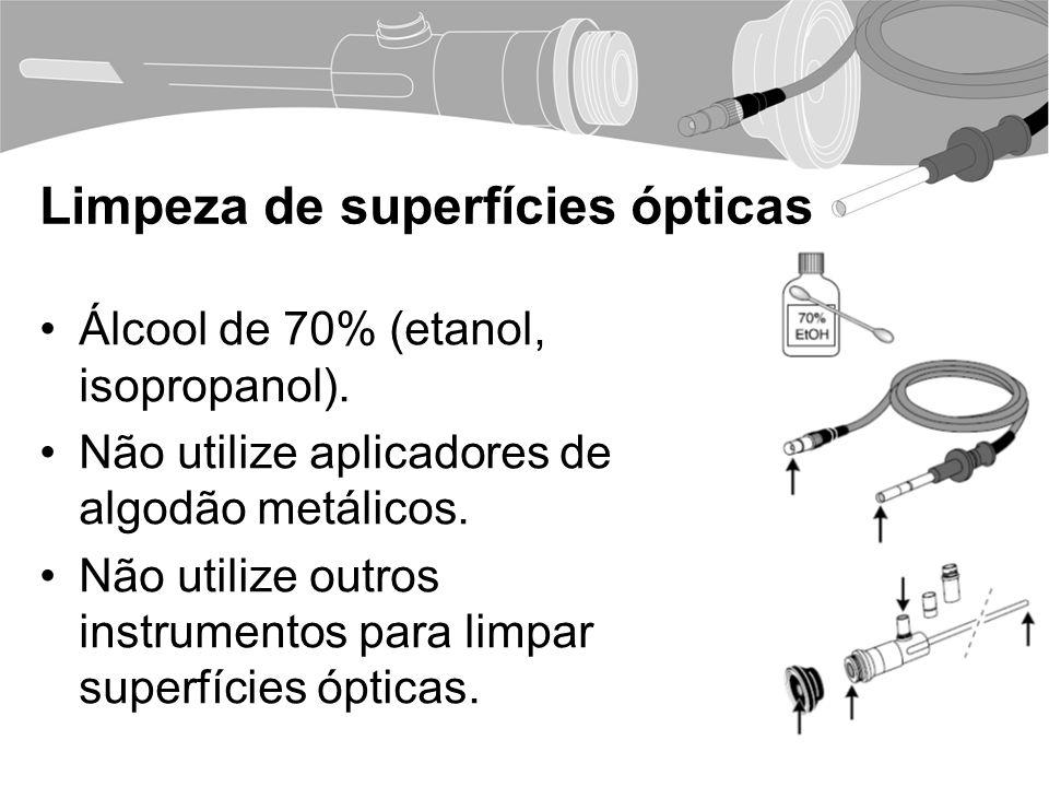 Limpeza de superfícies ópticas