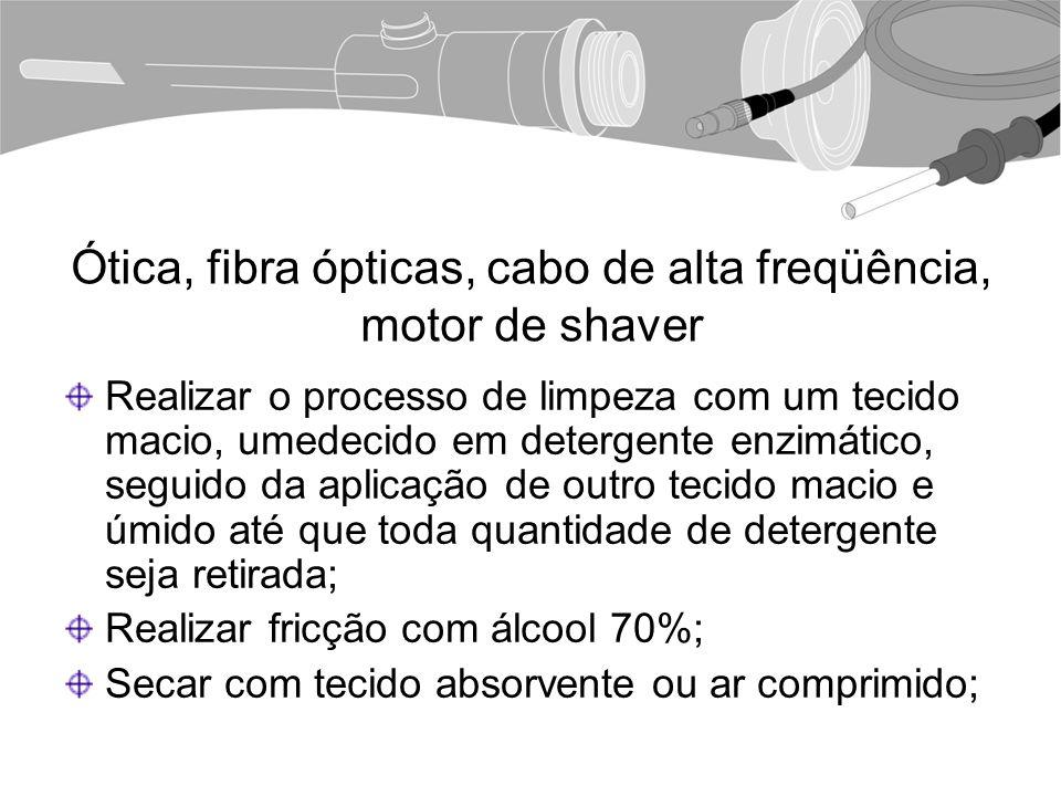 Ótica, fibra ópticas, cabo de alta freqüência, motor de shaver