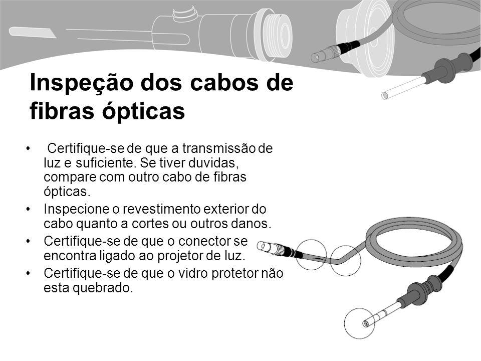 Inspeção dos cabos de fibras ópticas