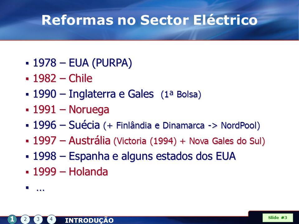 Reformas no Sector Eléctrico