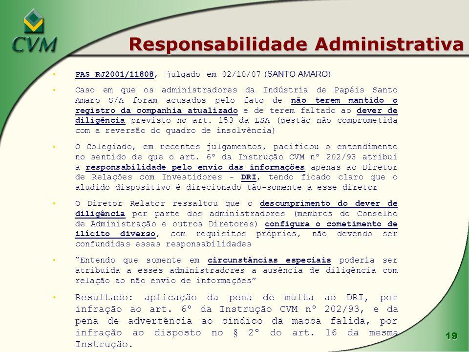 Responsabilidade Administrativa