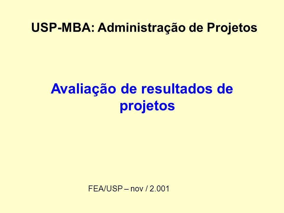 USP-MBA: Administração de Projetos