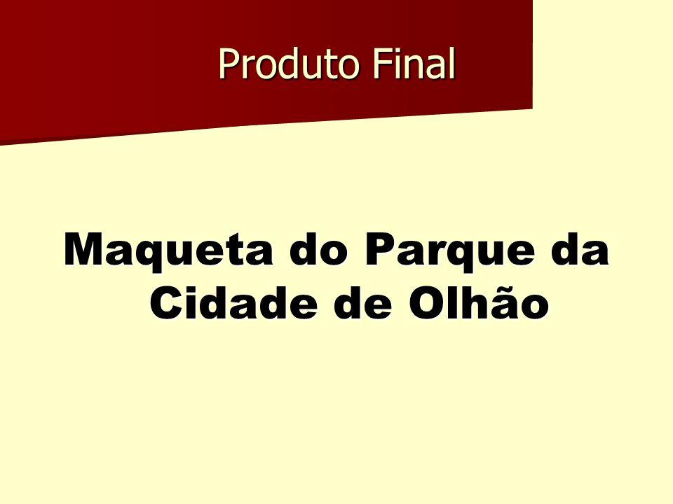 Maqueta do Parque da Cidade de Olhão