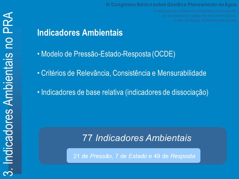 3. Indicadores Ambientais no PRA