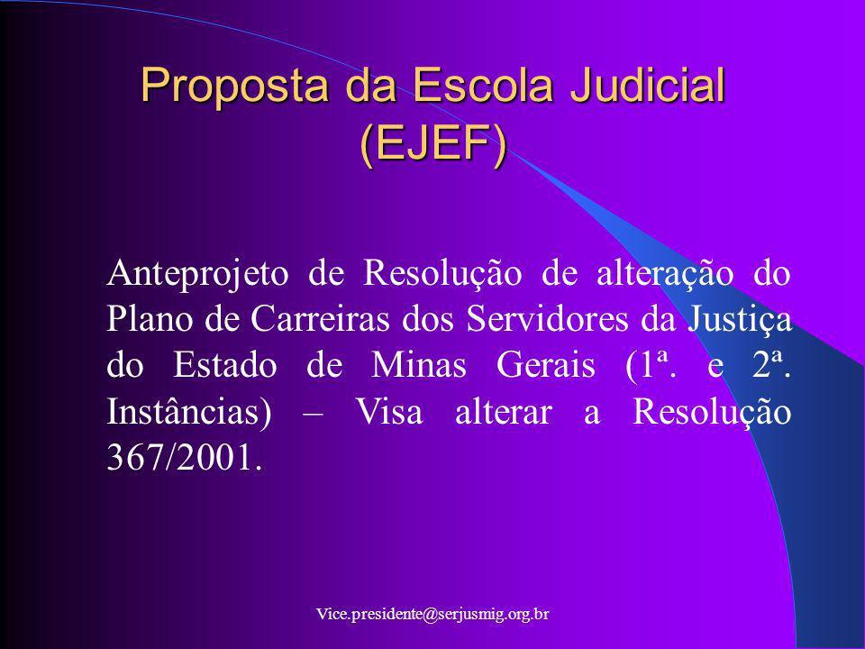 Proposta da Escola Judicial (EJEF)