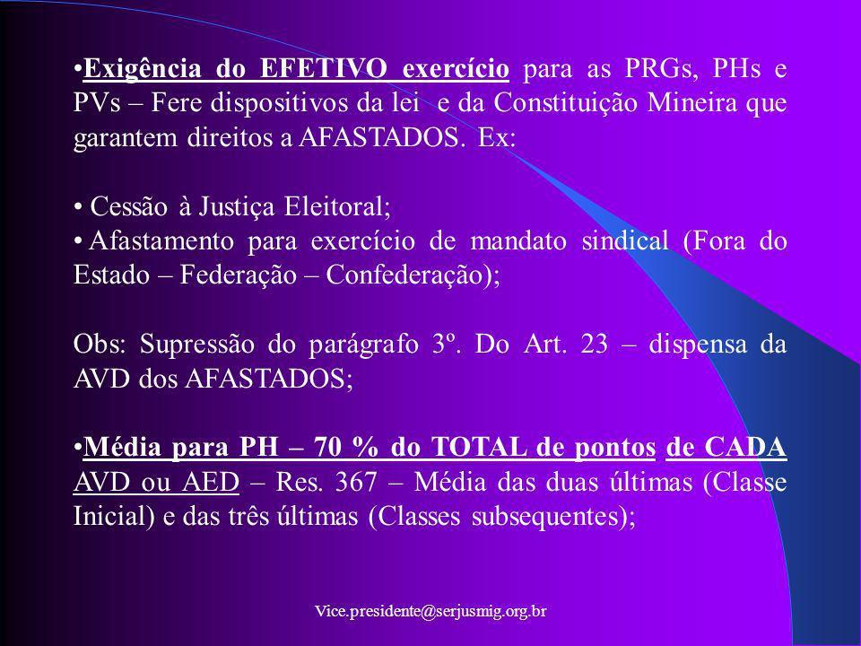 Cessão à Justiça Eleitoral;