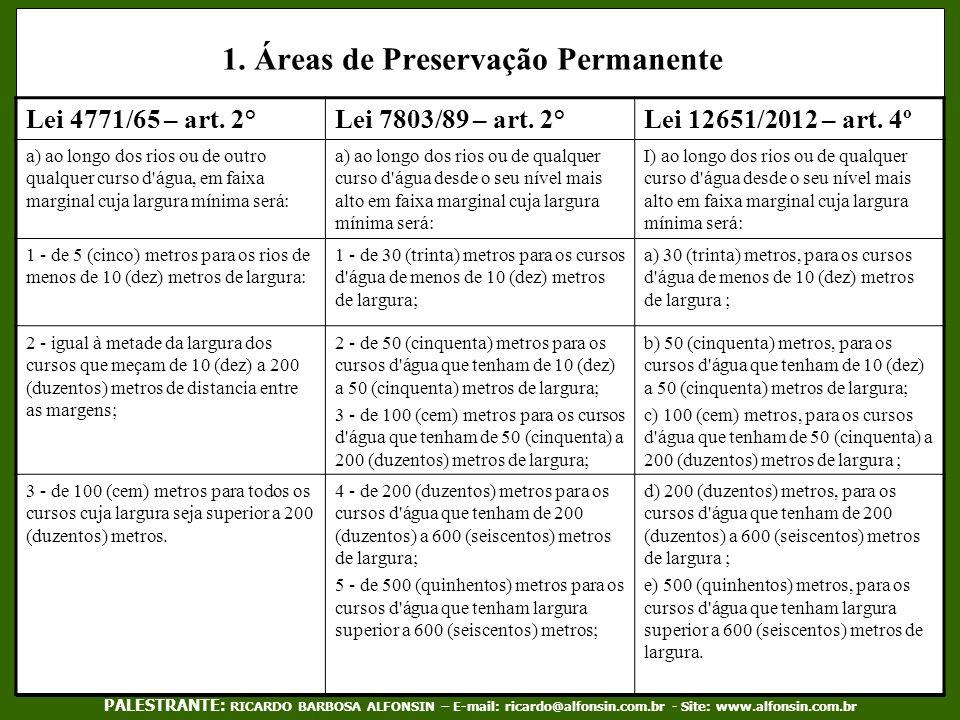 1. Áreas de Preservação Permanente
