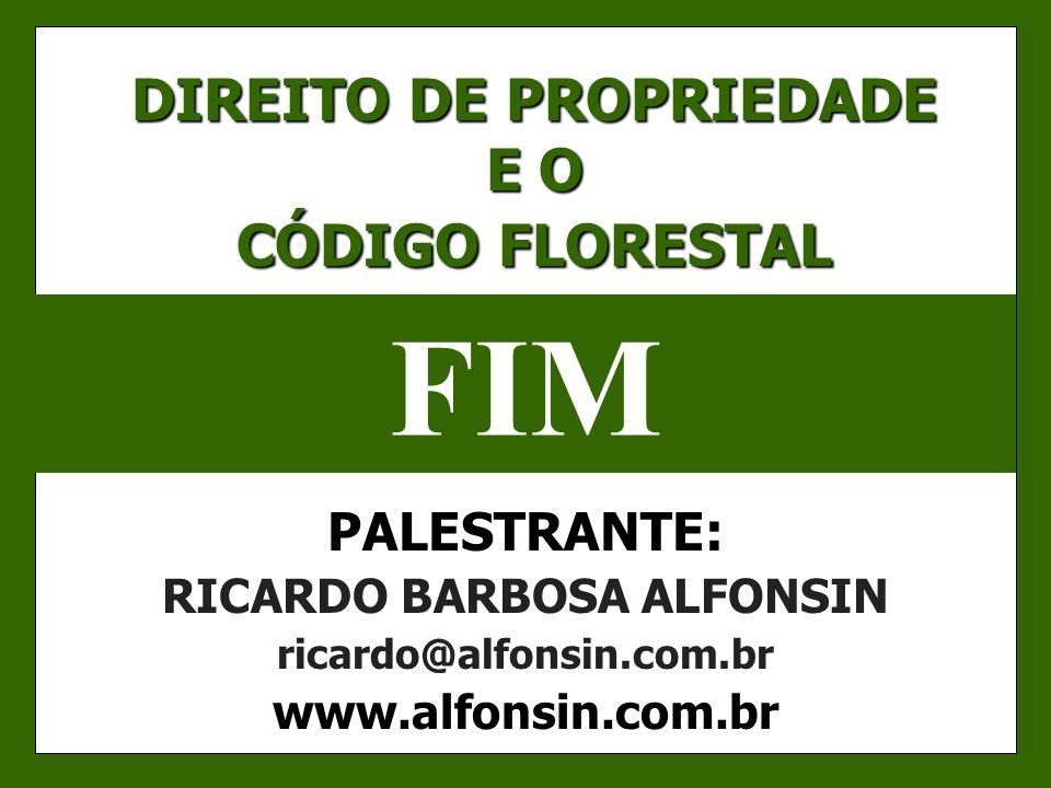 DIREITO DE PROPRIEDADE E O CÓDIGO FLORESTAL