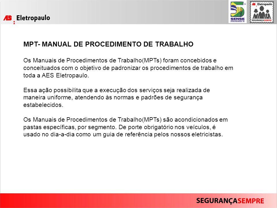 MPT- MANUAL DE PROCEDIMENTO DE TRABALHO