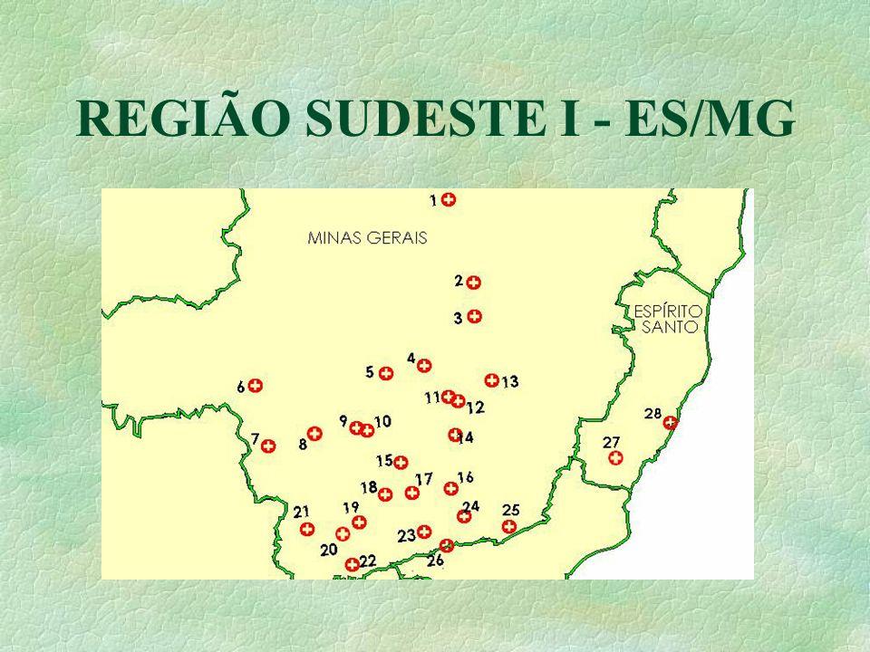 REGIÃO SUDESTE I - ES/MG
