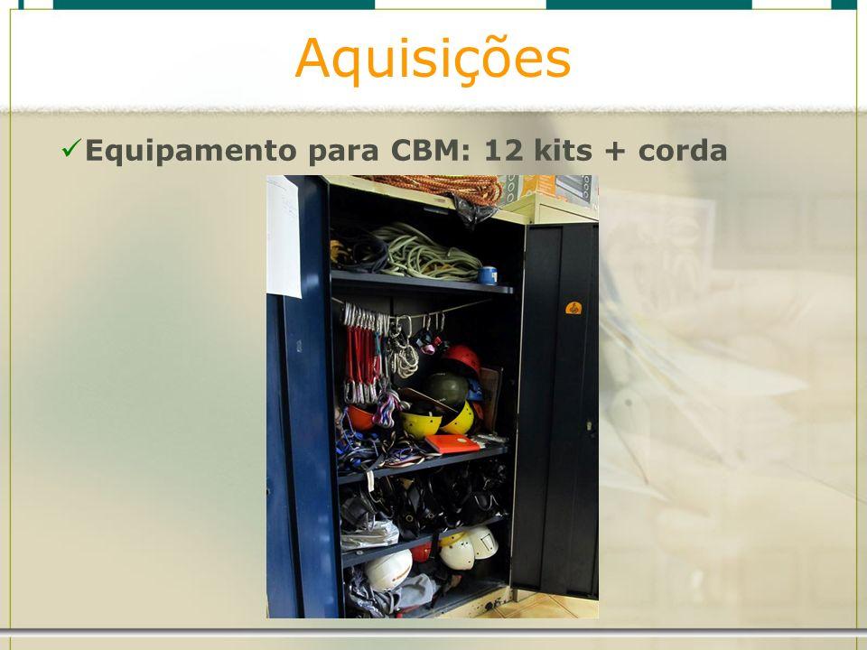 Aquisições Equipamento para CBM: 12 kits + corda
