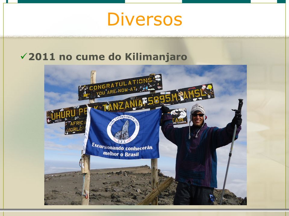 Diversos 2011 no cume do Kilimanjaro