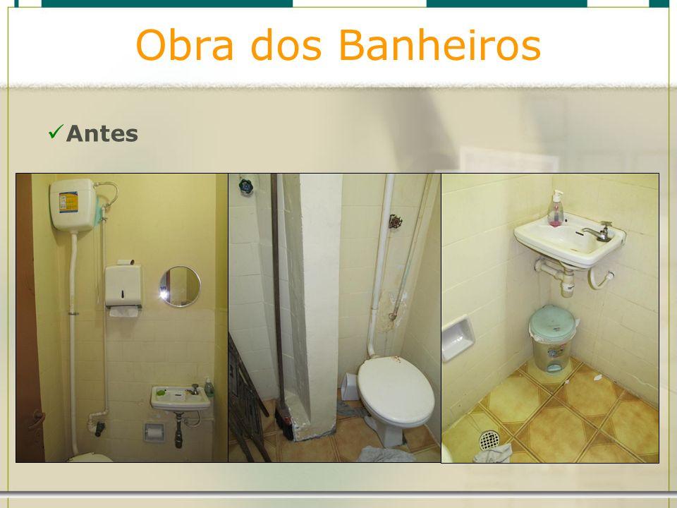 Obra dos Banheiros Antes