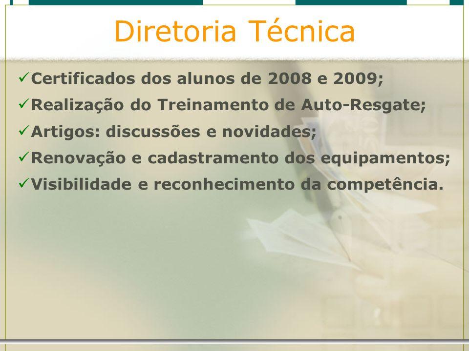 Diretoria Técnica Certificados dos alunos de 2008 e 2009;