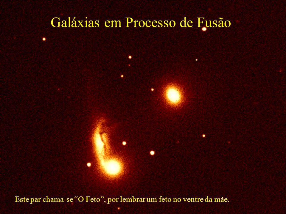 Galáxias em Processo de Fusão