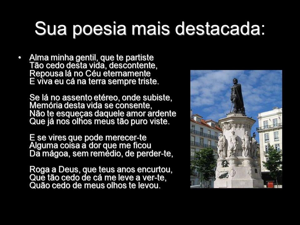 Sua poesia mais destacada: