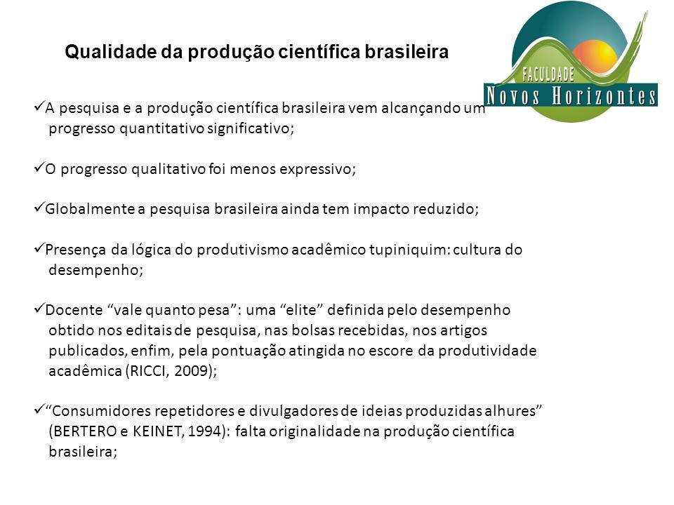Qualidade da produção científica brasileira