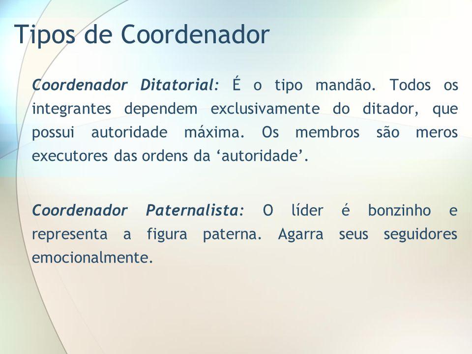 Tipos de Coordenador