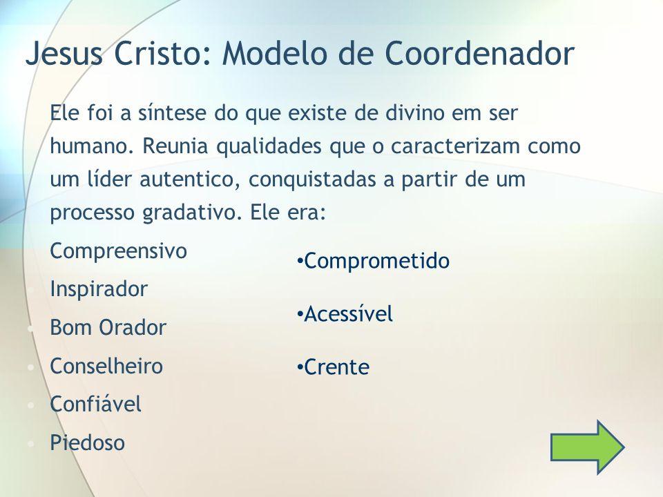 Jesus Cristo: Modelo de Coordenador