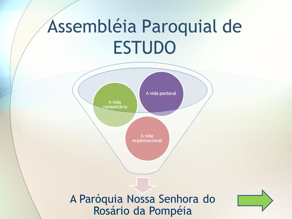 Assembléia Paroquial de ESTUDO