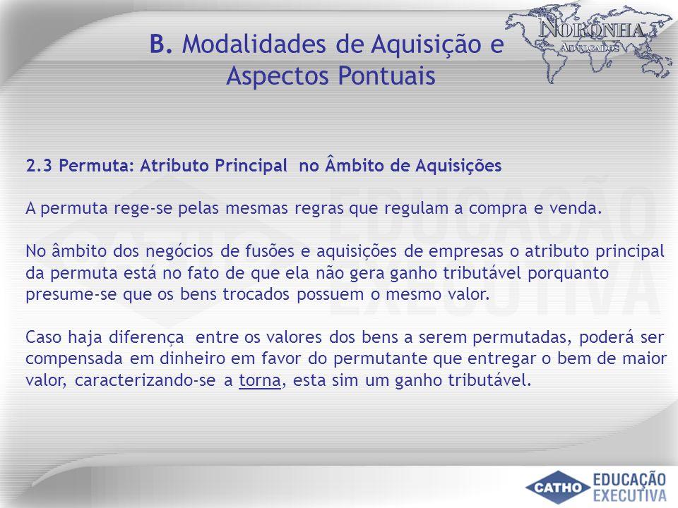 B. Modalidades de Aquisição e
