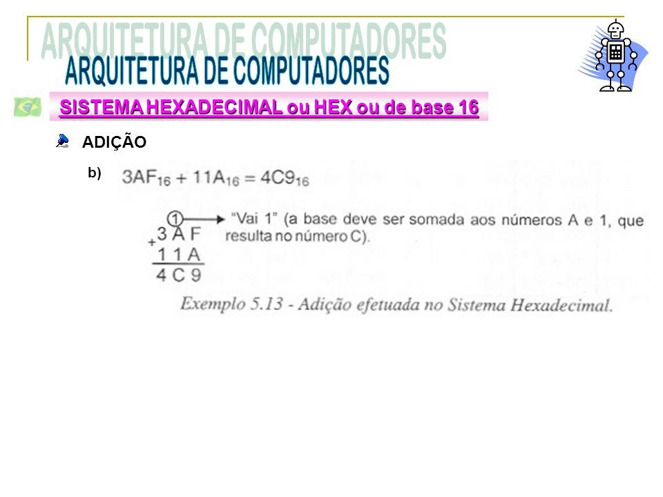 SISTEMA HEXADECIMAL ou HEX ou de base 16